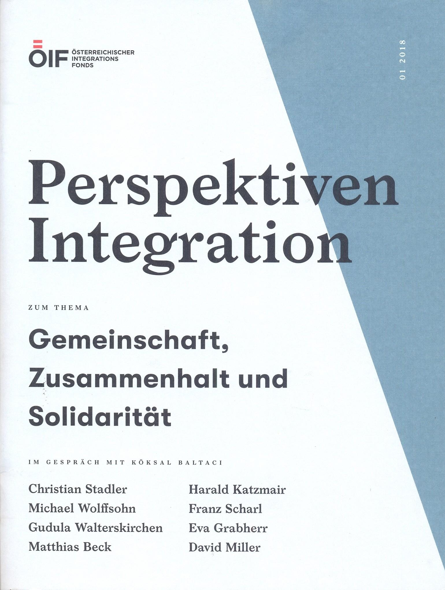 Perspektiven Integration Gemeinschaft,Zusammenhalt und Solidarität