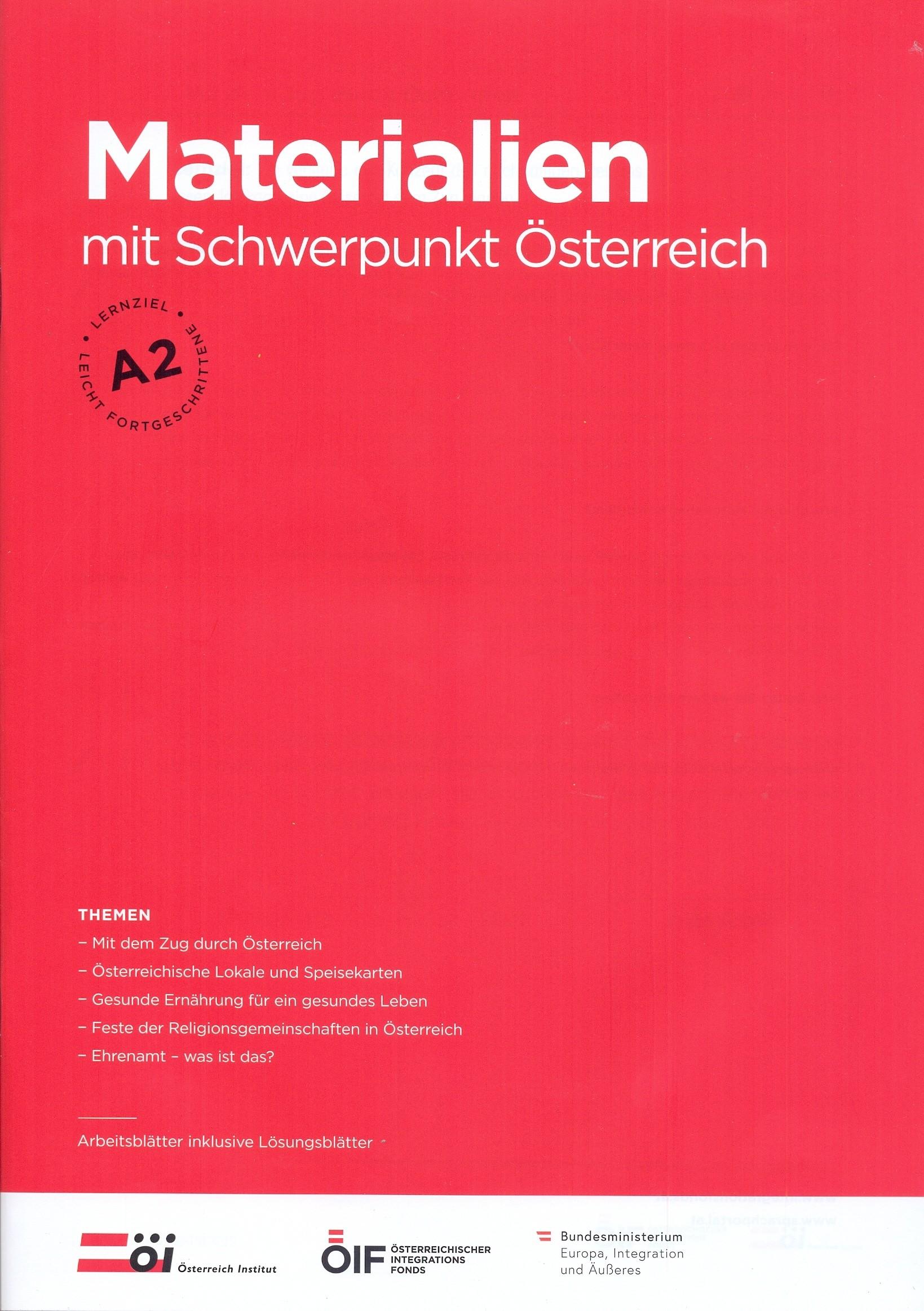 Materialien mit Schwerpunkt Österreich A2