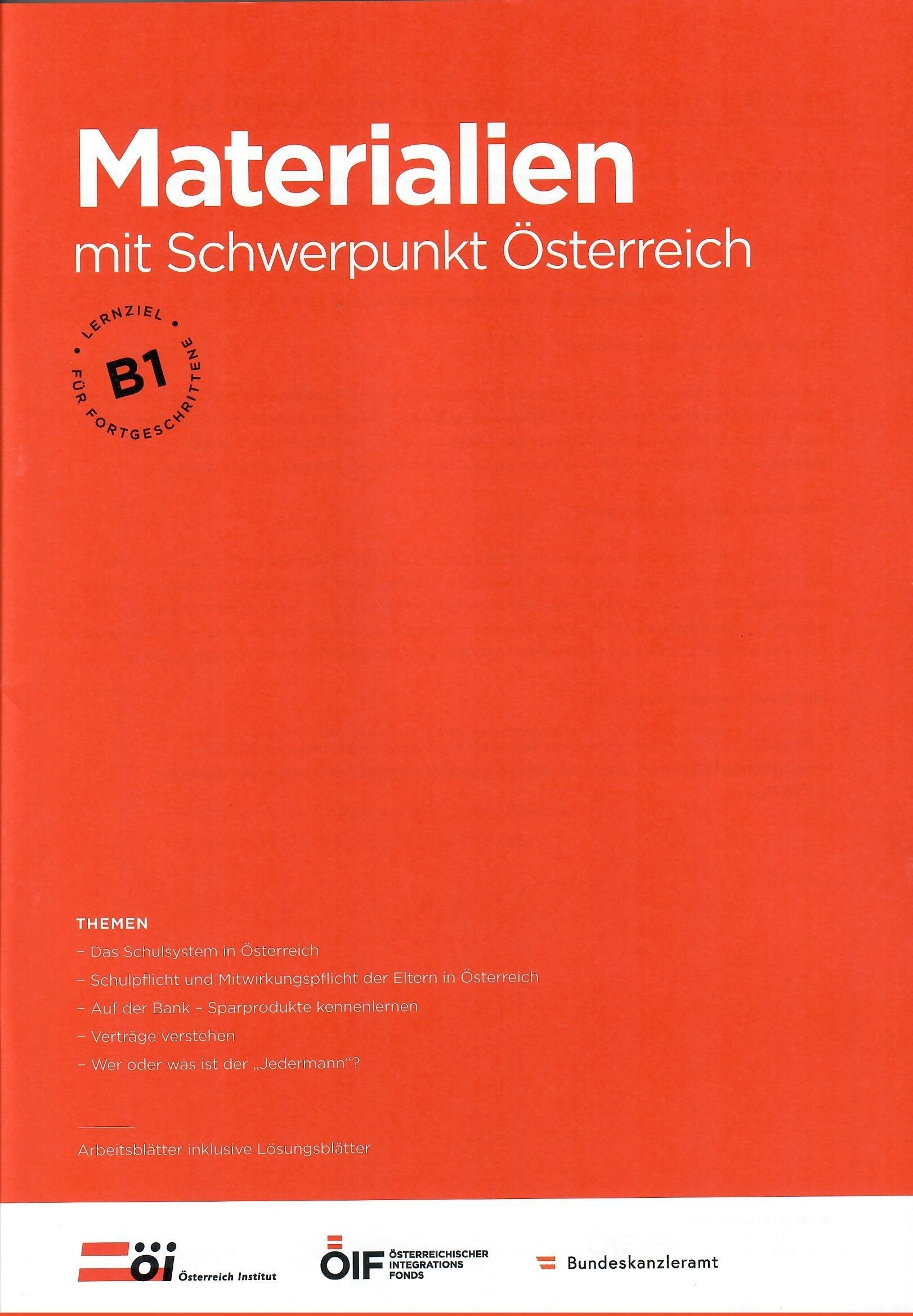 Materialien mit Schwerpunkt Österreich