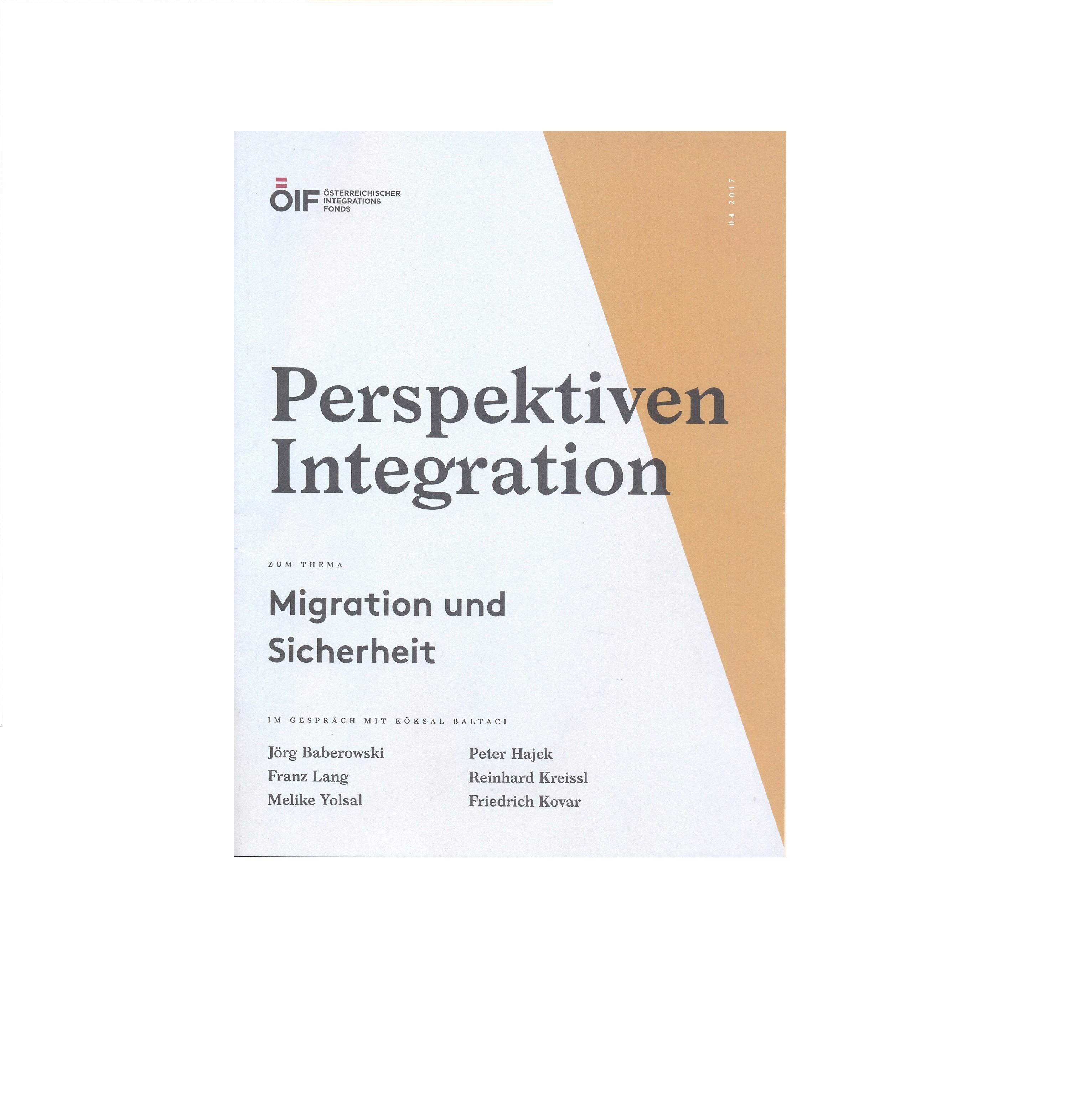Perspektiven Integration Migration und Sicherheit