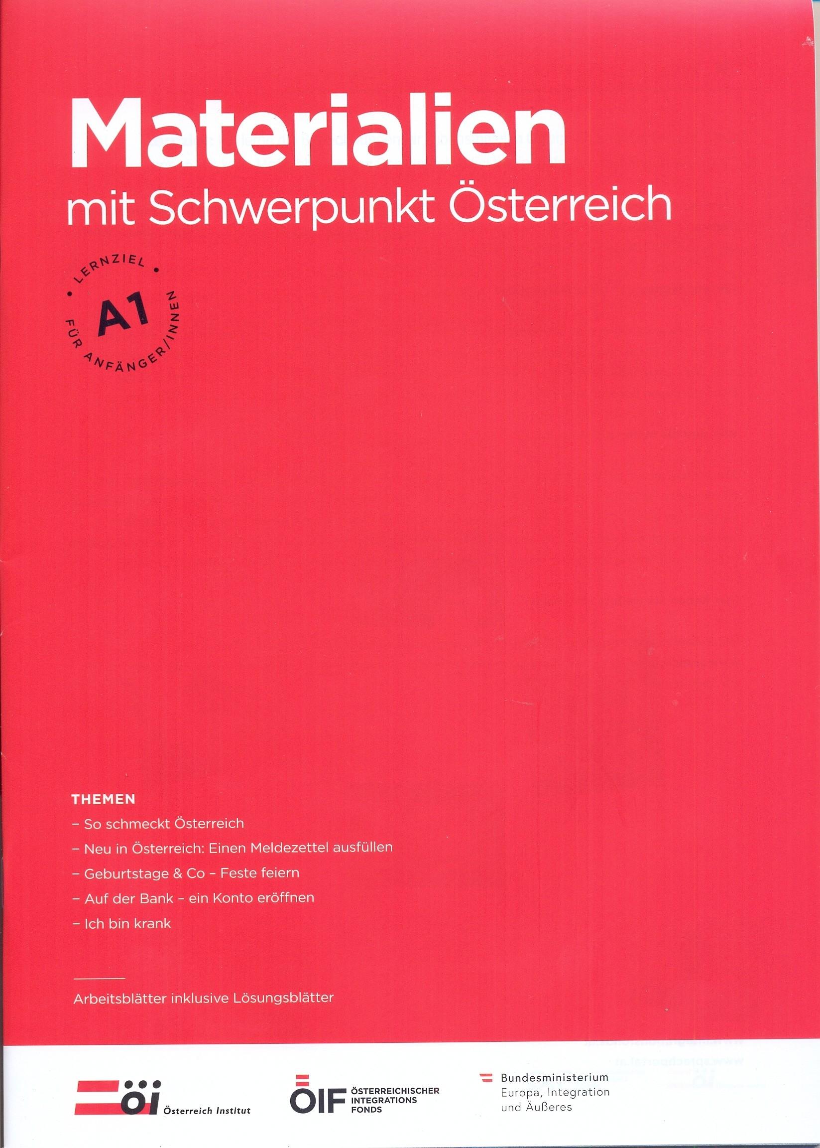 Materialien mit Schwerpunkt Österreich A1
