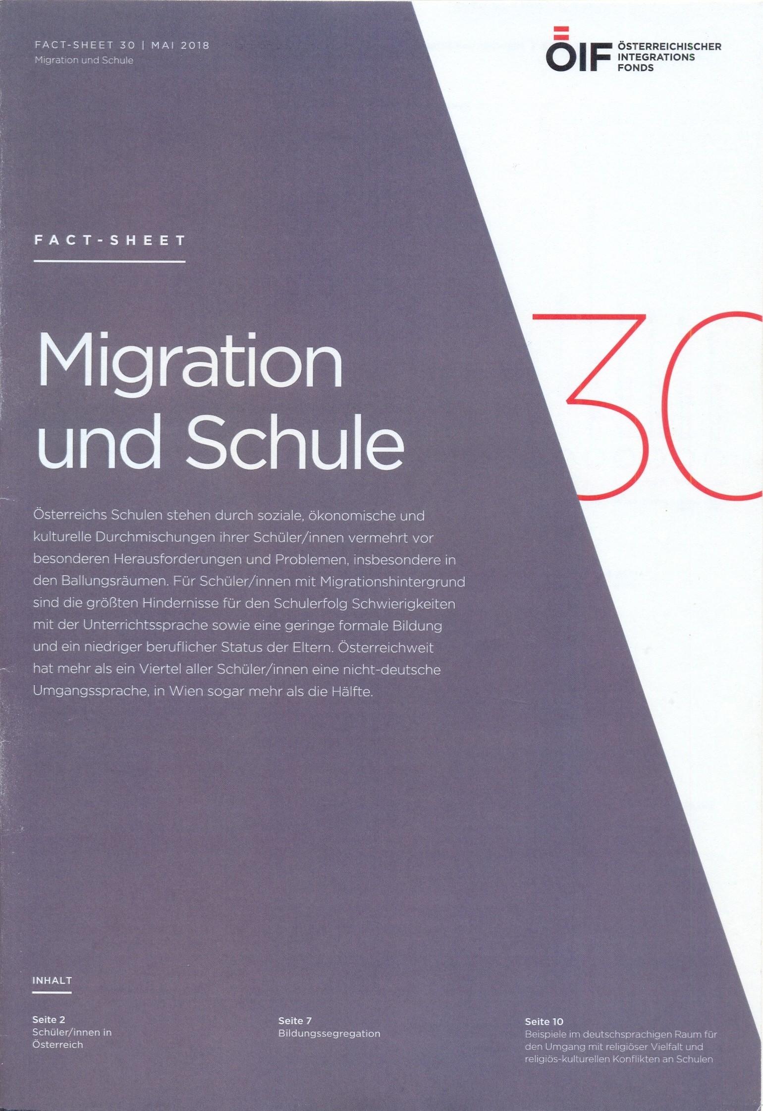 Migration und Schule Fact-Sheet 30