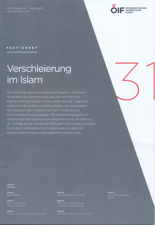Verschleierung im Islam Fact-Sheet 31