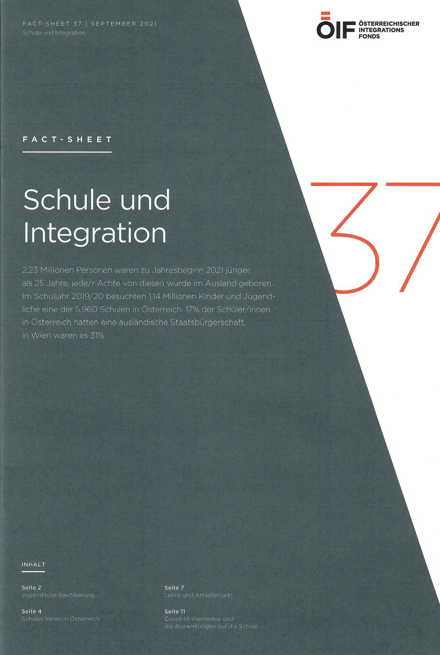 Fact Sheet Schule und Integration